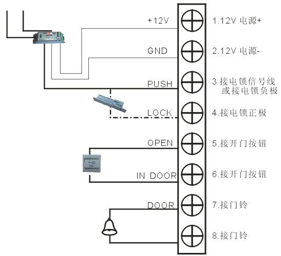 门禁控制器接线图
